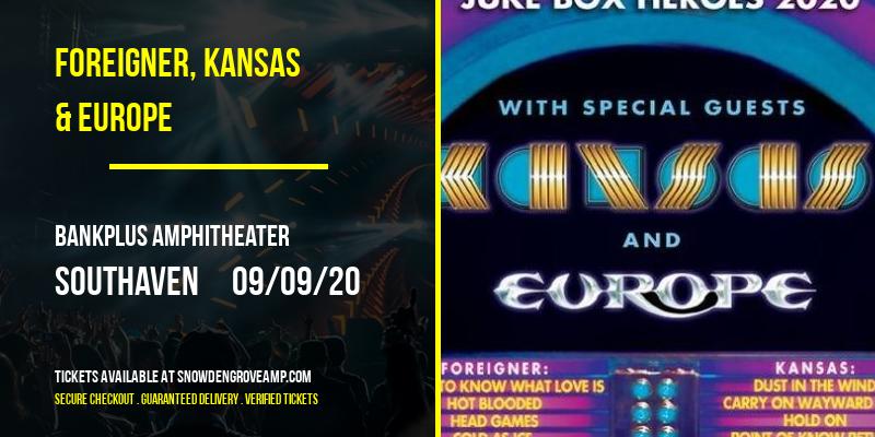 Foreigner, Kansas & Europe at BankPlus Amphitheater